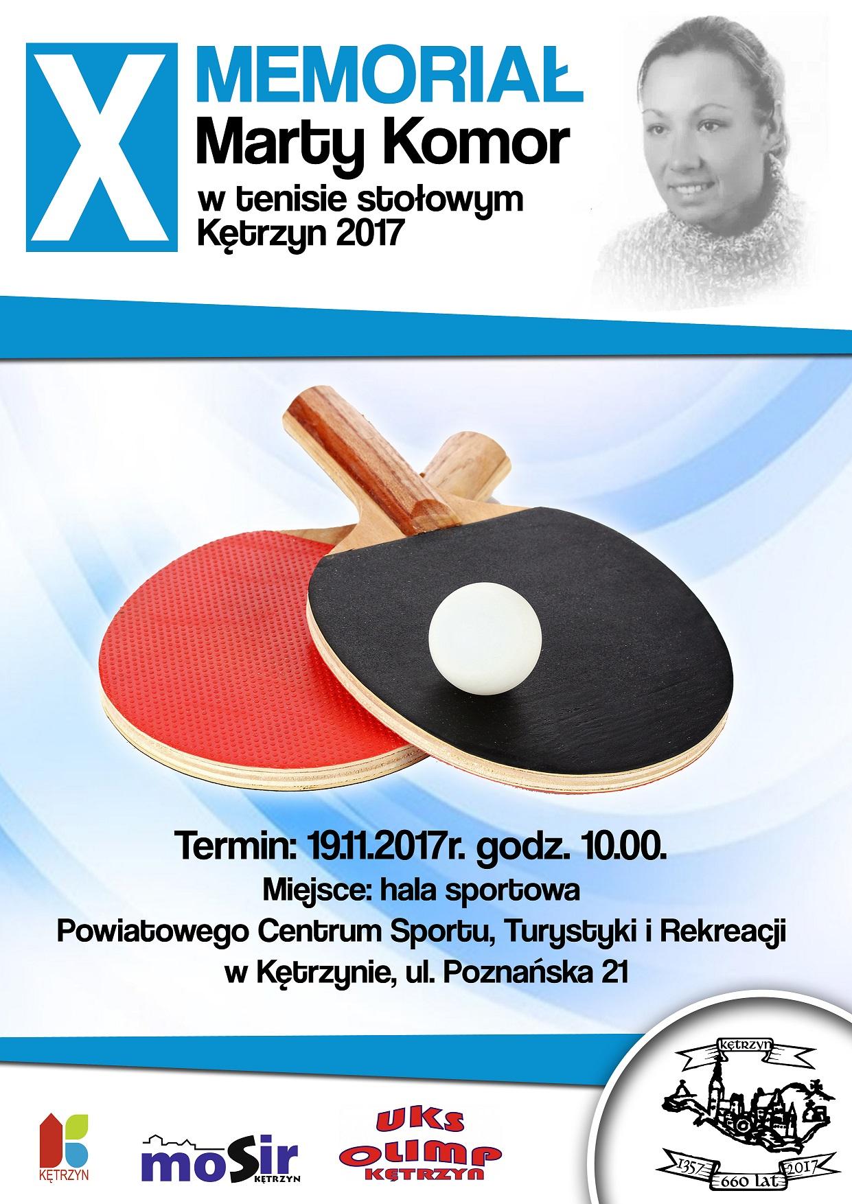 Plakat turnieju X Memoriał Marty Komor w Kętrzynie