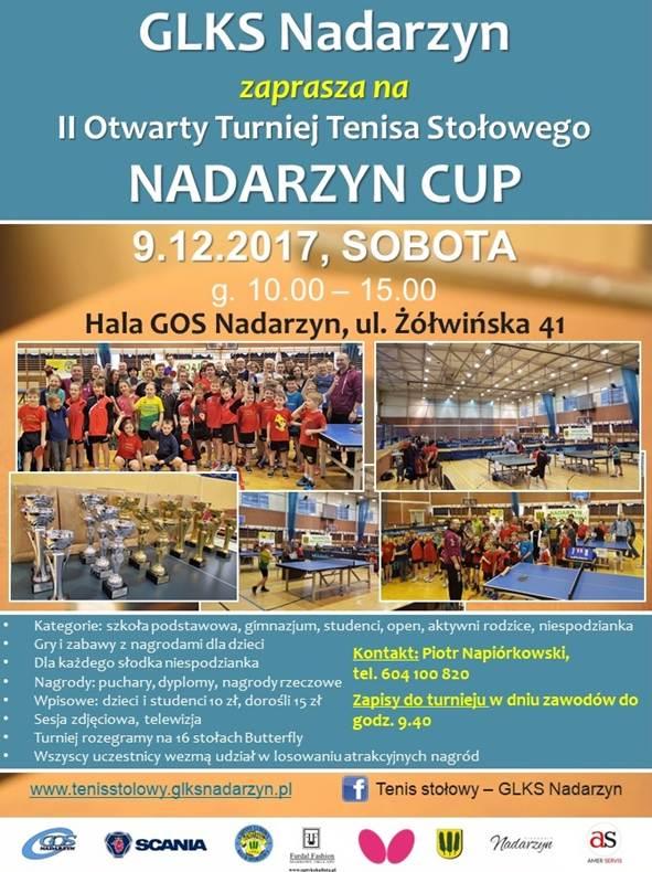 Plakat turnieju II Otwarty Turniej Tenisa Stołowego