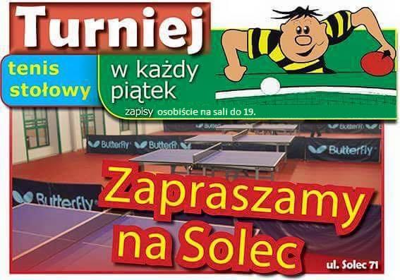 Plakat turnieju Turniej Piątkowy Solec 5.01.2018