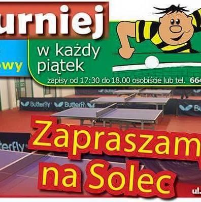 Plakat turnieju Turniej Piątkowy Solec 20.04.2018- wiosenny cykl turniejów