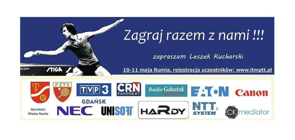 Plakat turnieju I Mistrzostwa Polski Branży It w Tenisie Stołowym