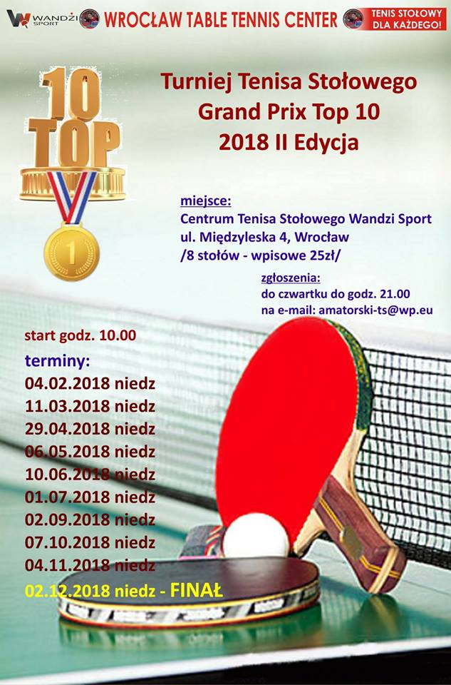Plakat turnieju III Grand Prix Top 10