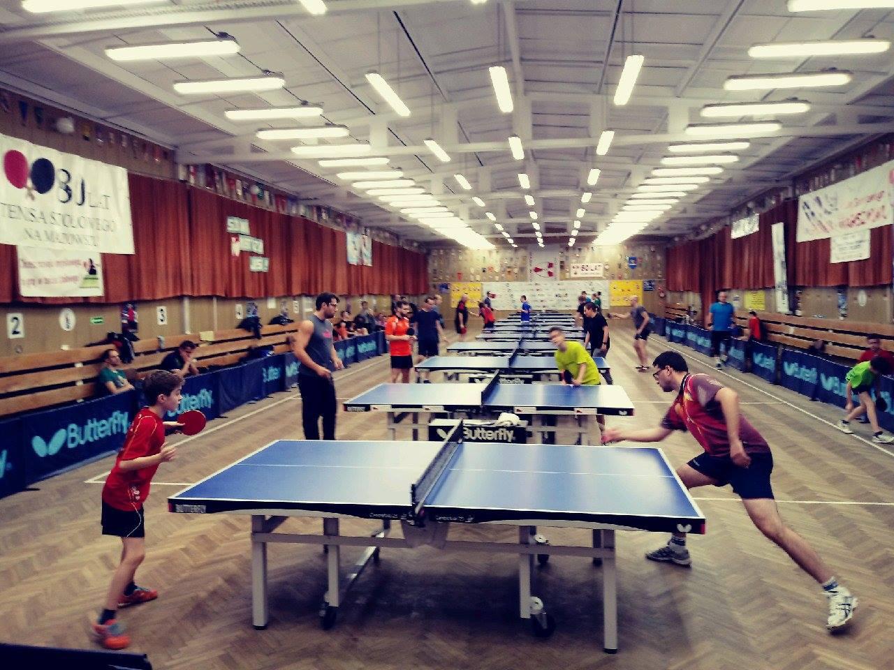 Plakat turnieju 2 Letni Turniej tenisa stołowego K.S. Spójnia Warszawa 2018