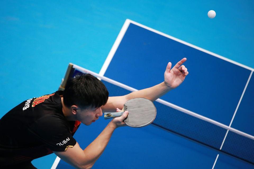 Plakat turnieju Otwarte Mistrzostwa Chorzowa w Tenisie Stołowym