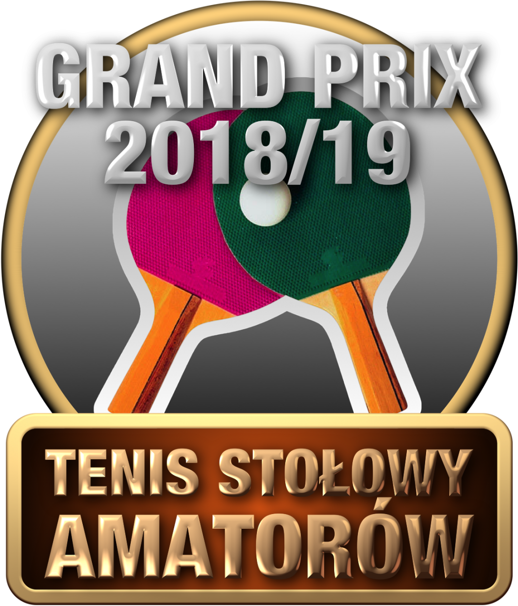 Plakat turnieju GRAND PRIX Ostrów Mazowiecki w tenisie stołowym amatorów 2018/2019- drugi turniej