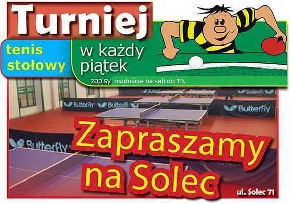 Plakat turnieju Turniej Piątkowy Solec 2018 - 14.12.2018