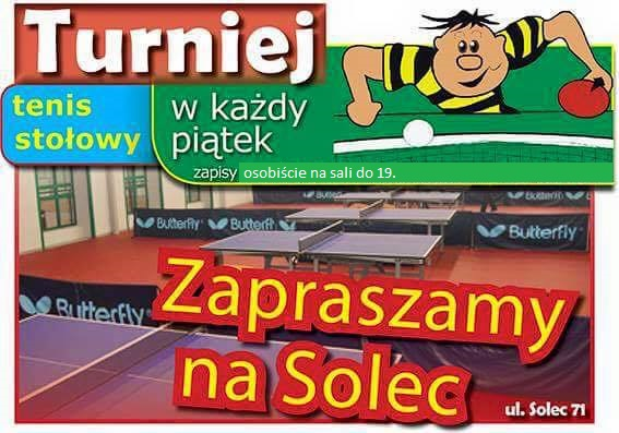 Plakat turnieju Turniej Piątkowy Solec 2018 - 30. 11.2018
