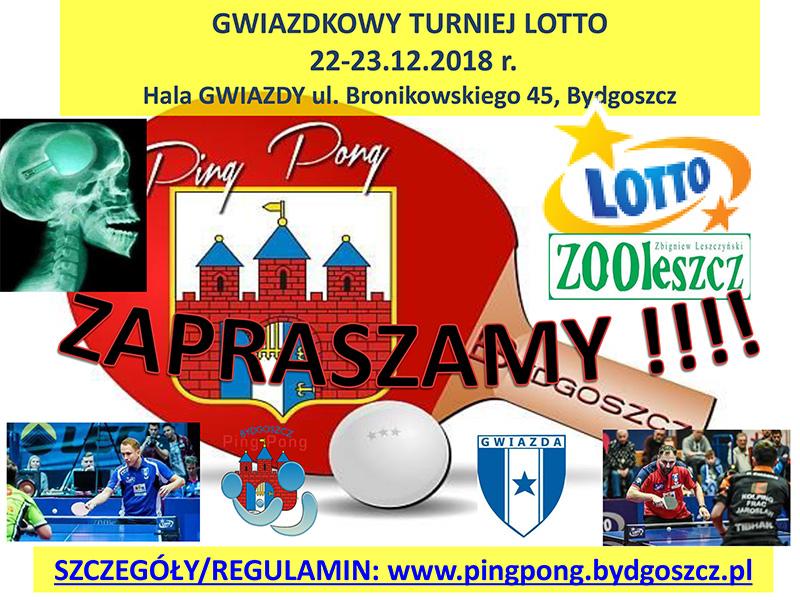 """Plakat turnieju Gwiazdkowy Turniej """"LOTTO"""""""