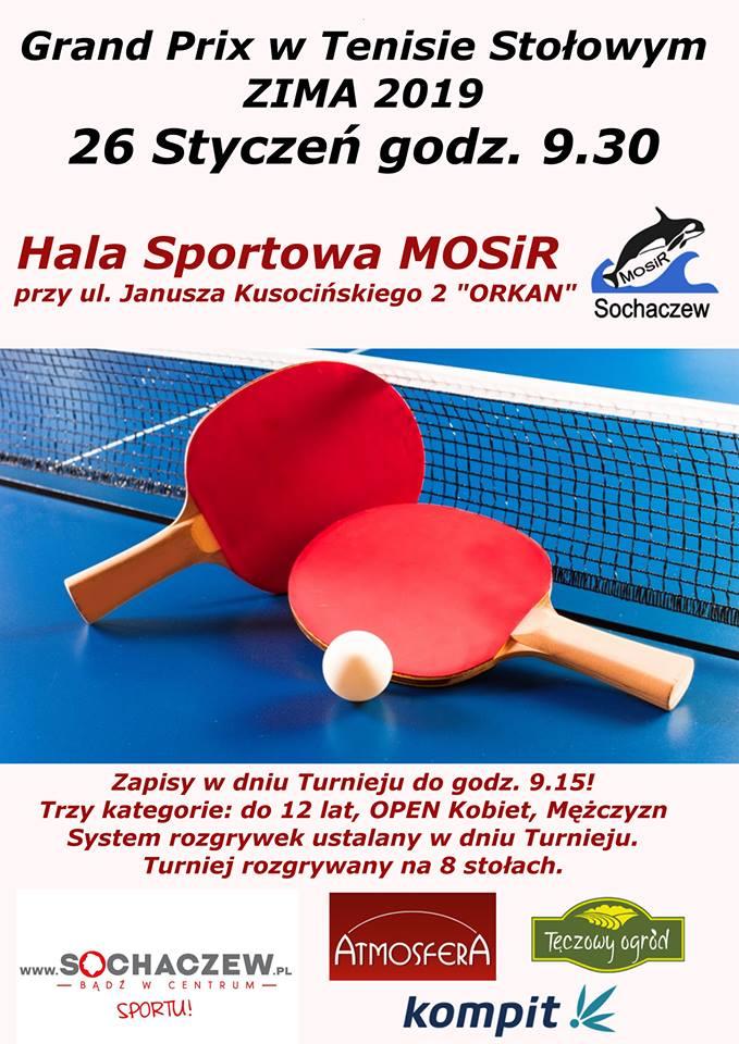 Plakat turnieju GRAND PRIX ZIMA 2019/ Sochaczew