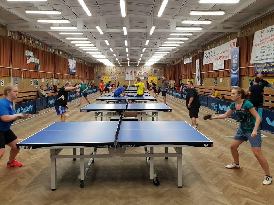 Plakat turnieju 20 Grand Prix K.S. Spójnia Warszawa w tenisie stołowym