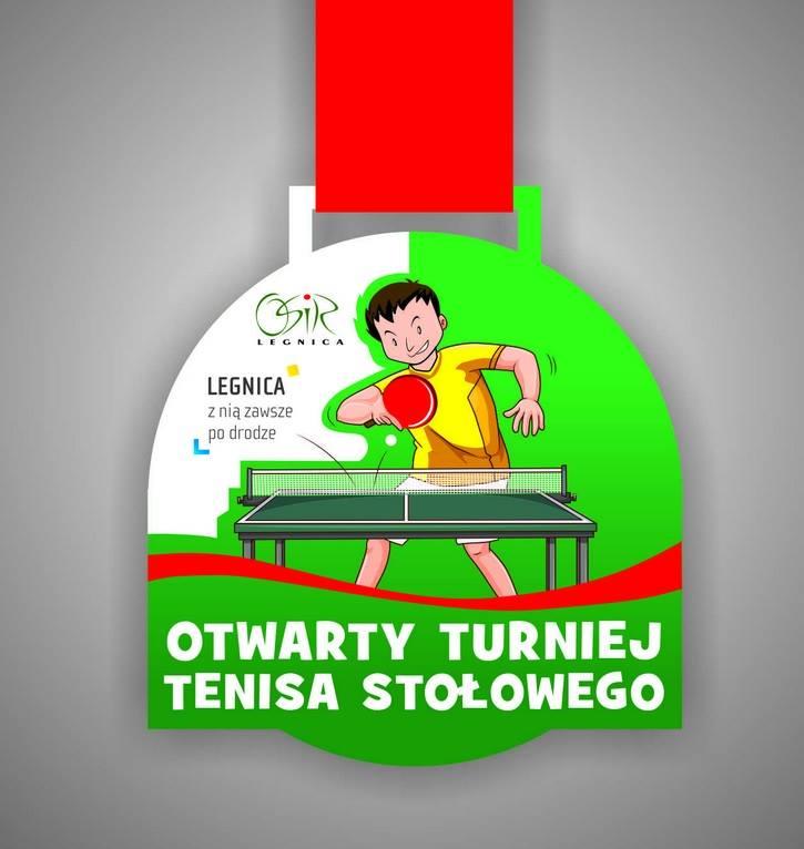 Plakat turnieju OTWARTY TURNIEJ TENISA STOŁOWEGO- LEGNICA