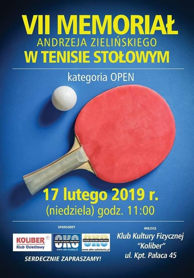 Plakat turnieju VII Memoriał Andrzeja Zielińskiego