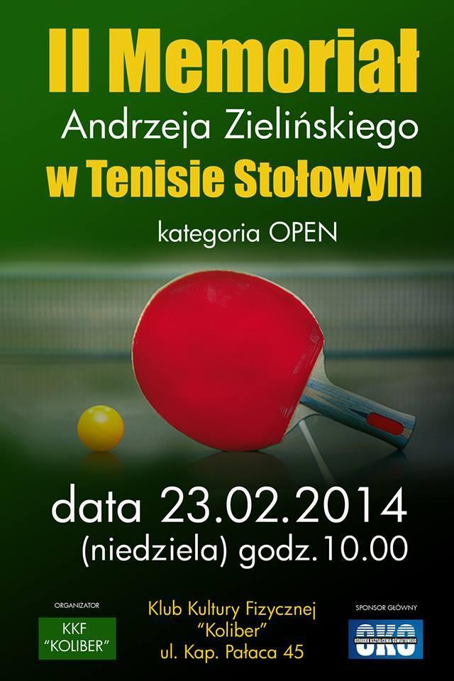 Plakat turnieju II Memoriał Andrzeja Zielińskiego