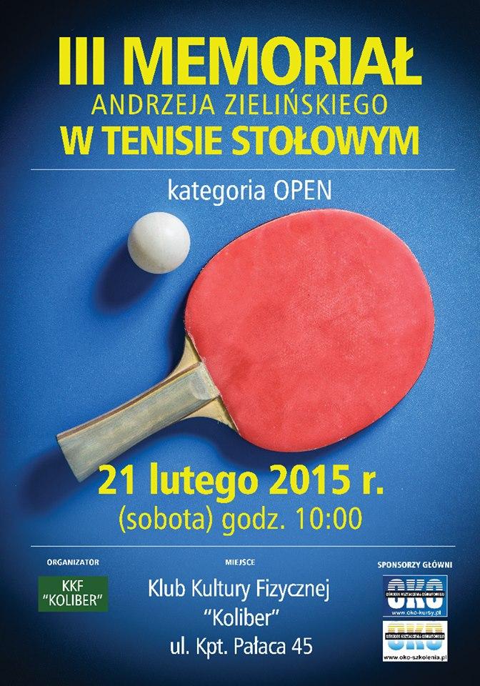 Plakat turnieju III Memoriał Andrzeja Zielińskiego