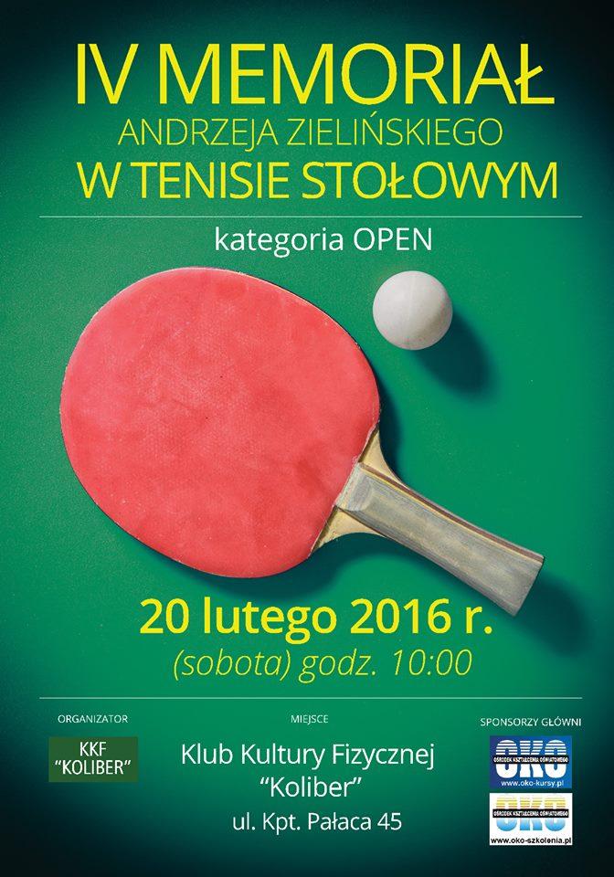 Plakat turnieju IV Memoriał Andrzeja Zielińskiego