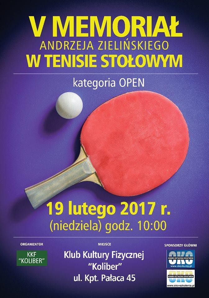 Plakat turnieju V Memoriał Andrzeja Zielińskiego