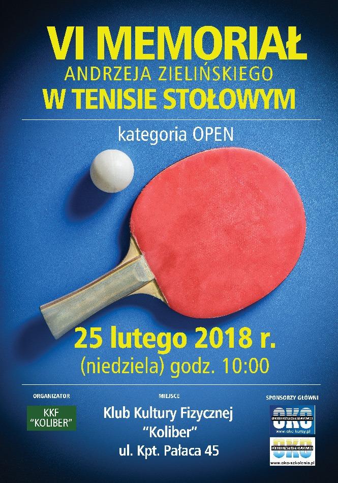 Plakat turnieju VI Memoriał Andrzeja Zielińskiego