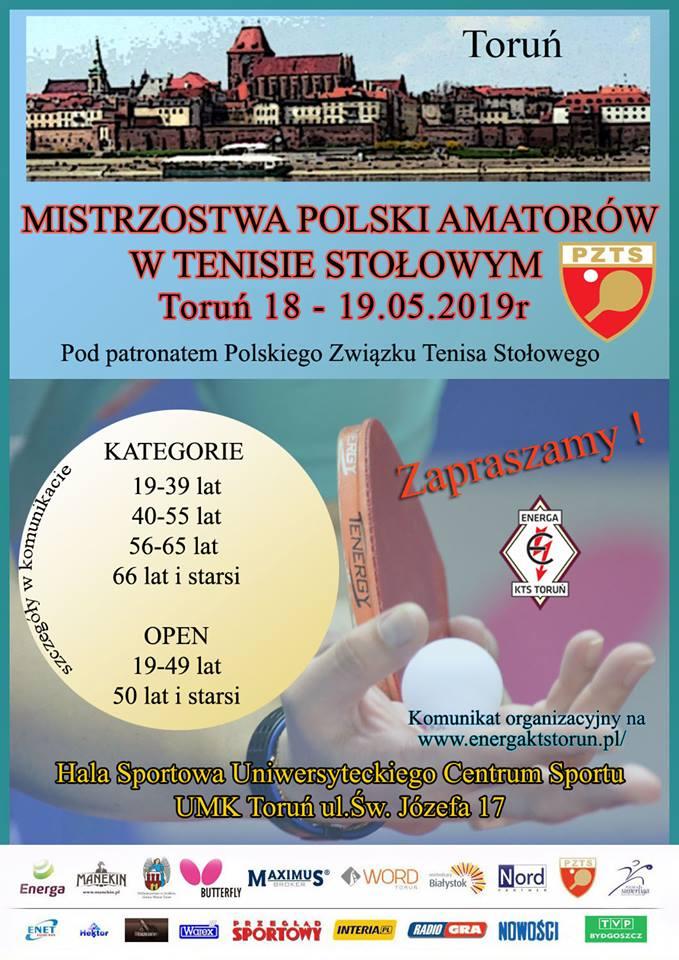 Plakat turnieju Mistrzostwa Polski Amatorów