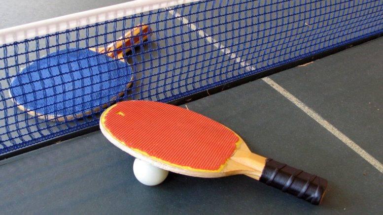 Plakat turnieju XIV Turniej Tenisa Stołowego o Puchar Wójta Gminy Szczerców
