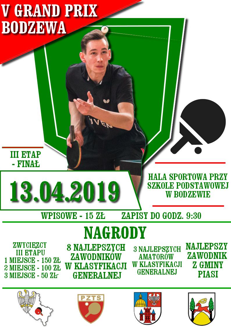 Plakat turnieju Grand Prix w Bodzewie - FINAŁ