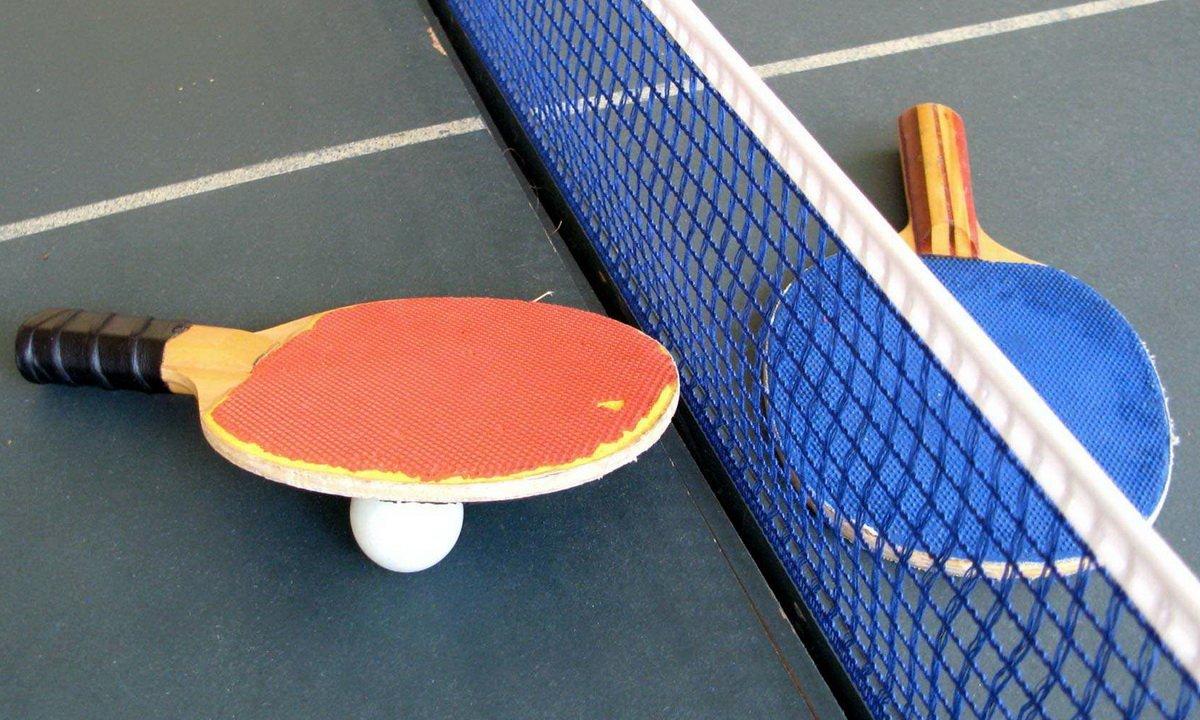 """Plakat turnieju  XIX Regionalny Turniej Tenisa Stołowego: """"Bawmy się razem"""""""