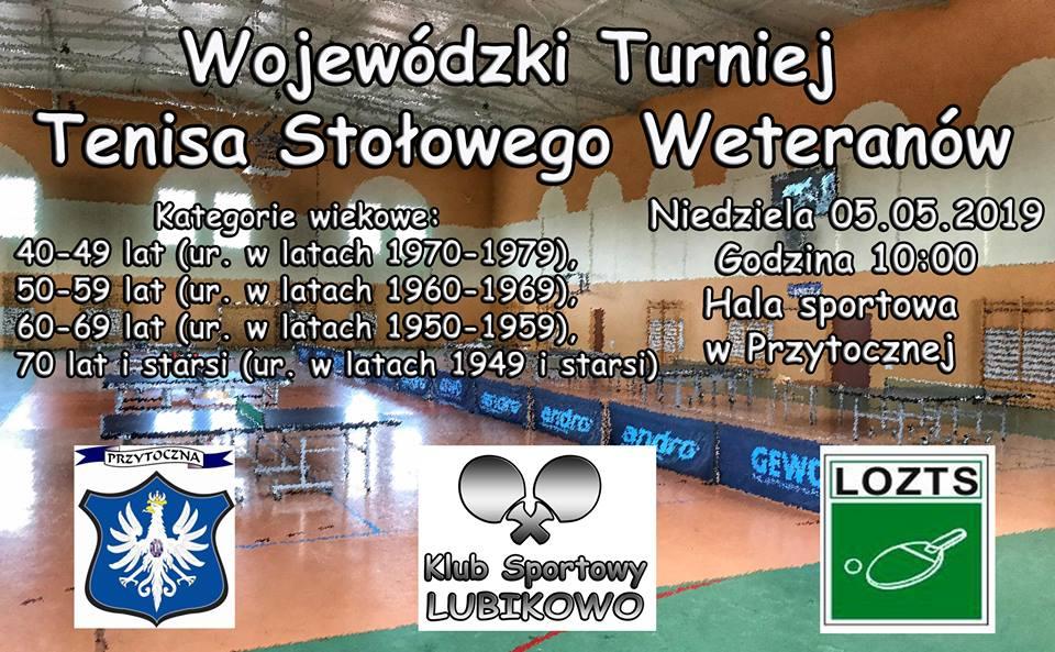 Plakat turnieju Wojewódzki Turniej Weteranów w Przytocznej