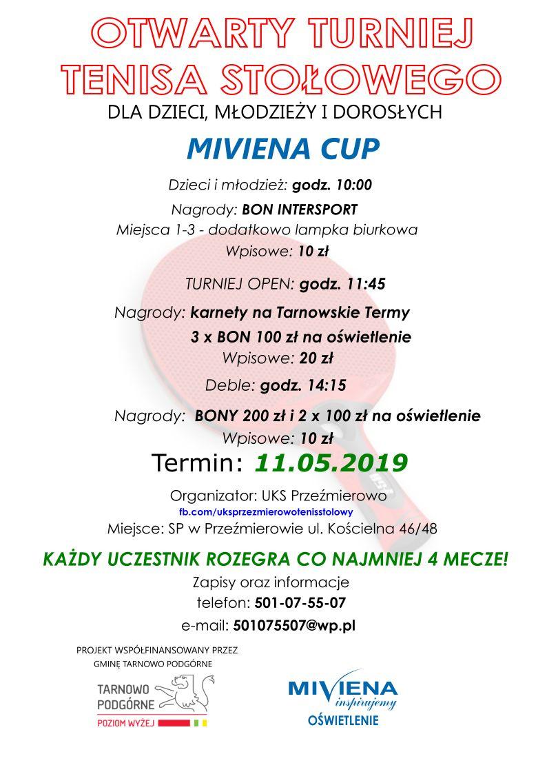 Plakat turnieju Miviena Cup - Przeźmierowo