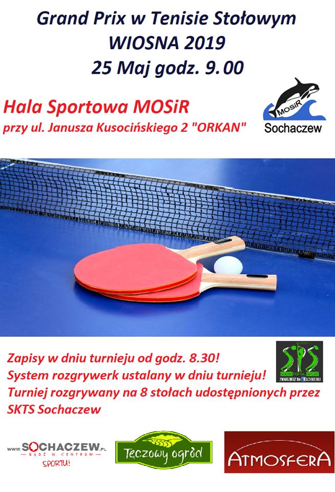 Plakat turnieju GRAND PRIX WIOSNA 2019/ Sochaczew