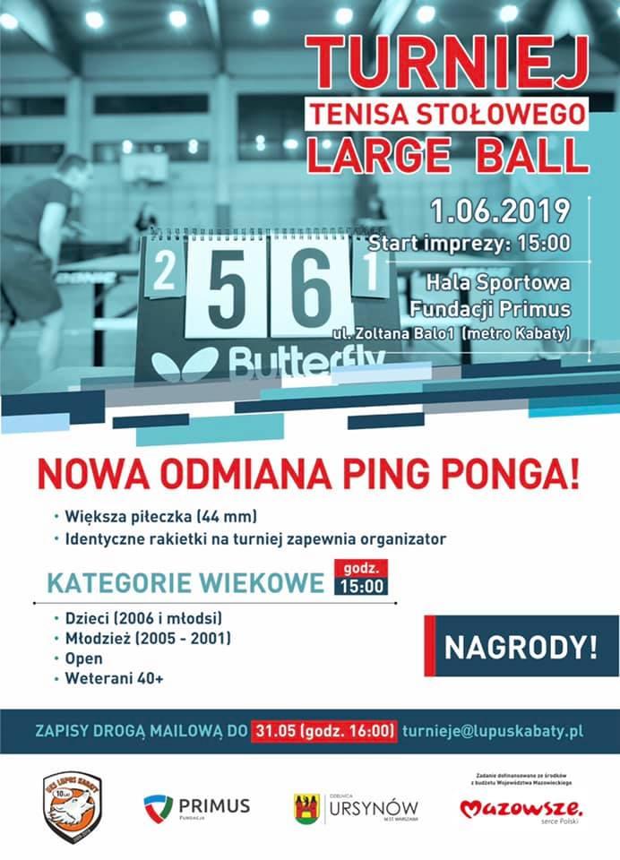 Plakat turnieju LARGE BALL