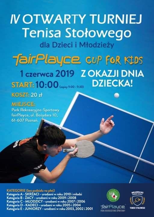 Plakat turnieju IV Otwarty Turniej dla Dzieci i Młodzieży