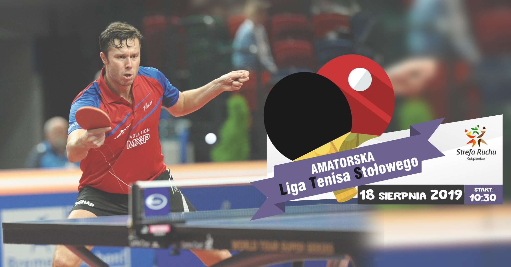 Plakat turnieju LTS - Liga Tenisa Stołowego