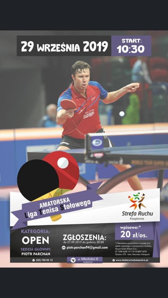 Plakat turnieju LTS - Liga Tenisa Stołowego - II Turniej