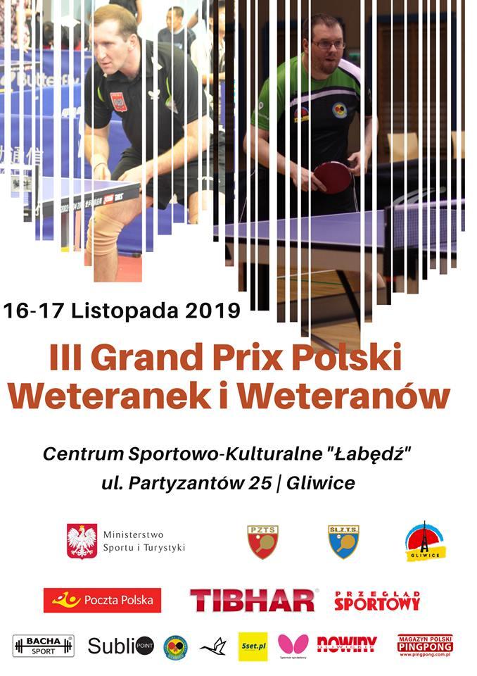 Plakat turnieju 3. Grand Prix Polski Weteranek i Weteranów