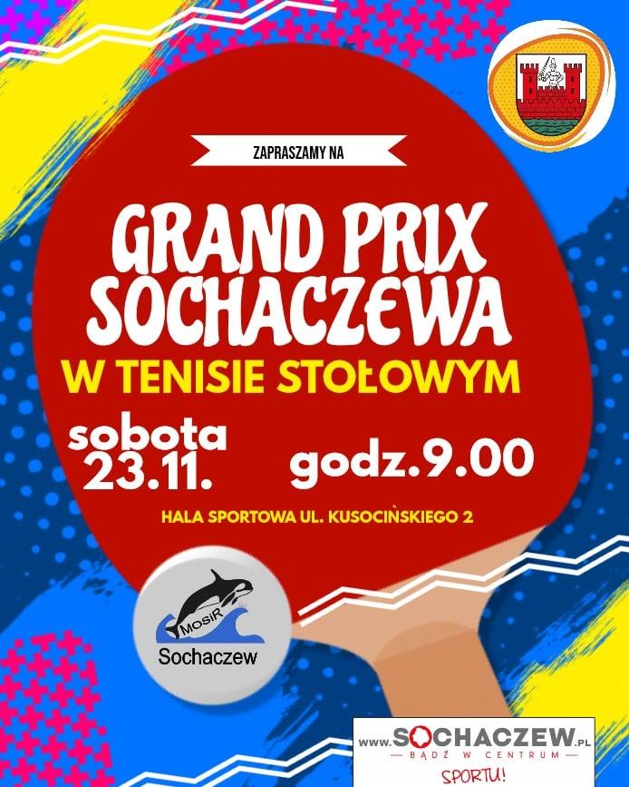 Plakat turnieju III Grand Prix Sochaczewa w Tenisie Stołowym 2019