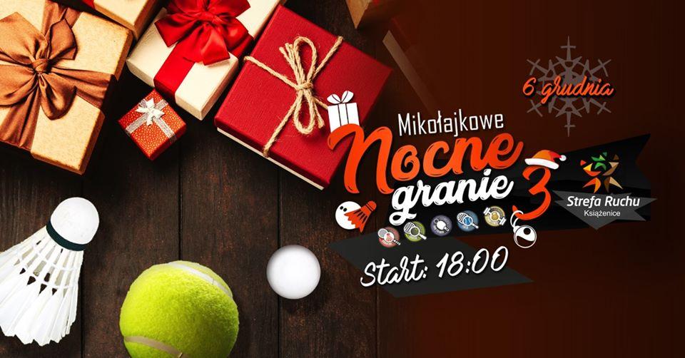 Plakat turnieju Mikołajkowe Nocne Granie 3 - Książenice