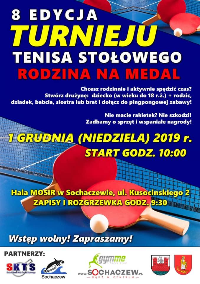 Plakat turnieju RODZINA NA MEDAL - 8 edycja