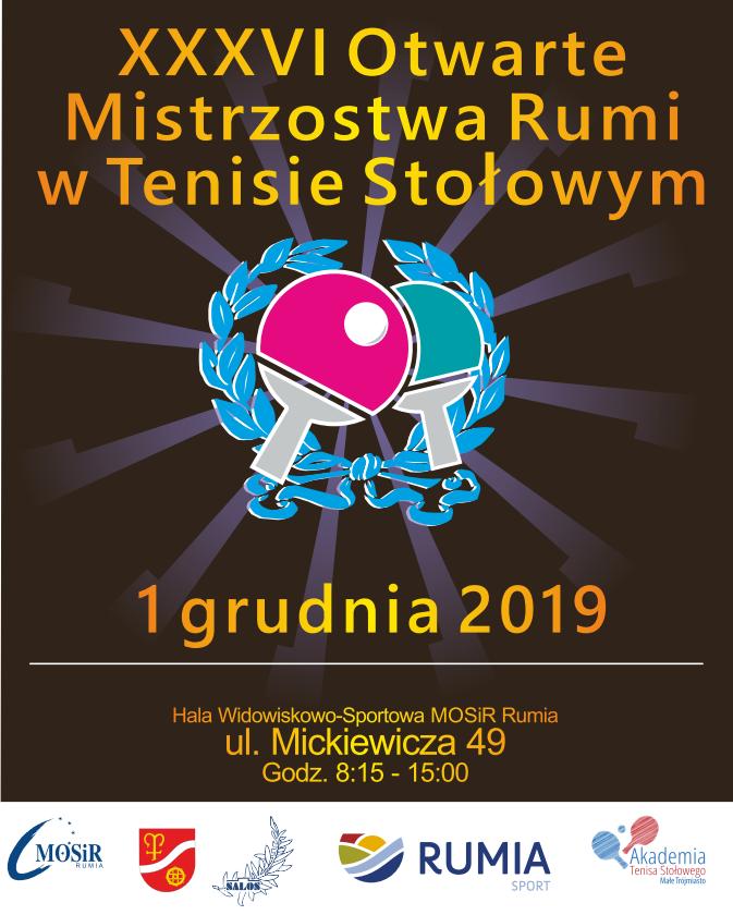 Plakat turnieju XXXVI Otwarte Mistrzostwa Rumi