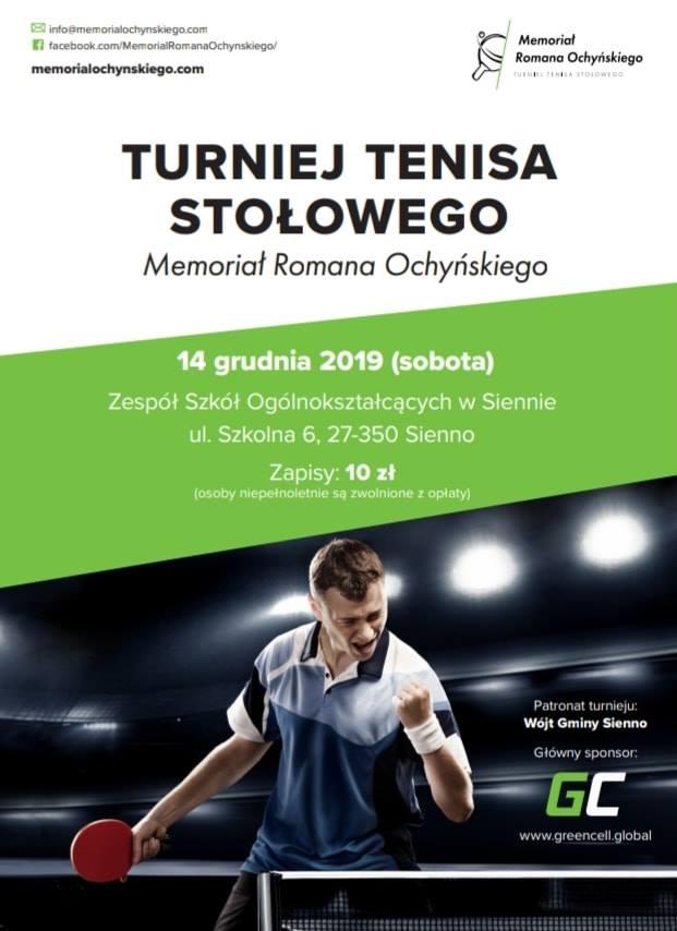 Plakat turnieju Memoriał Romana Ochyńskiego