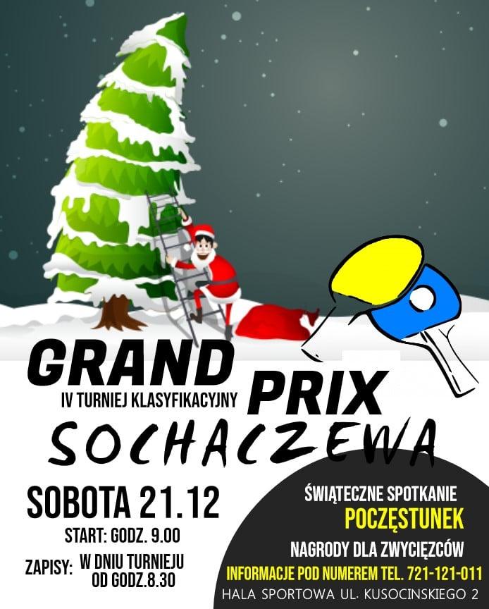 Plakat turnieju IV Grand Prix Sochaczewa w Tenisie Stołowym 2019