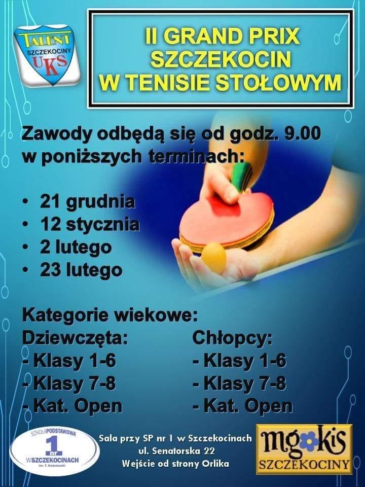 Plakat turnieju II GRAND PRIX SZCZEKOCIN- turniej 4