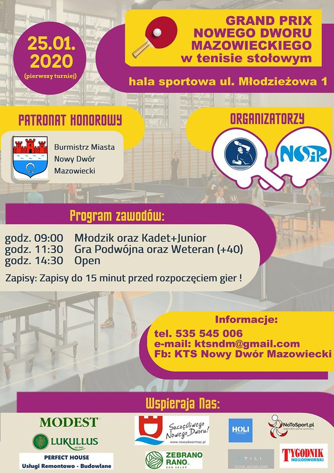 Plakat turnieju Grand Prix Nowego Dworu Mazowieckiego - I turniej