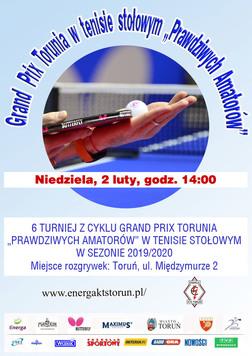 Plakat turnieju 6 GPT Amatorów sezon 2019/2020