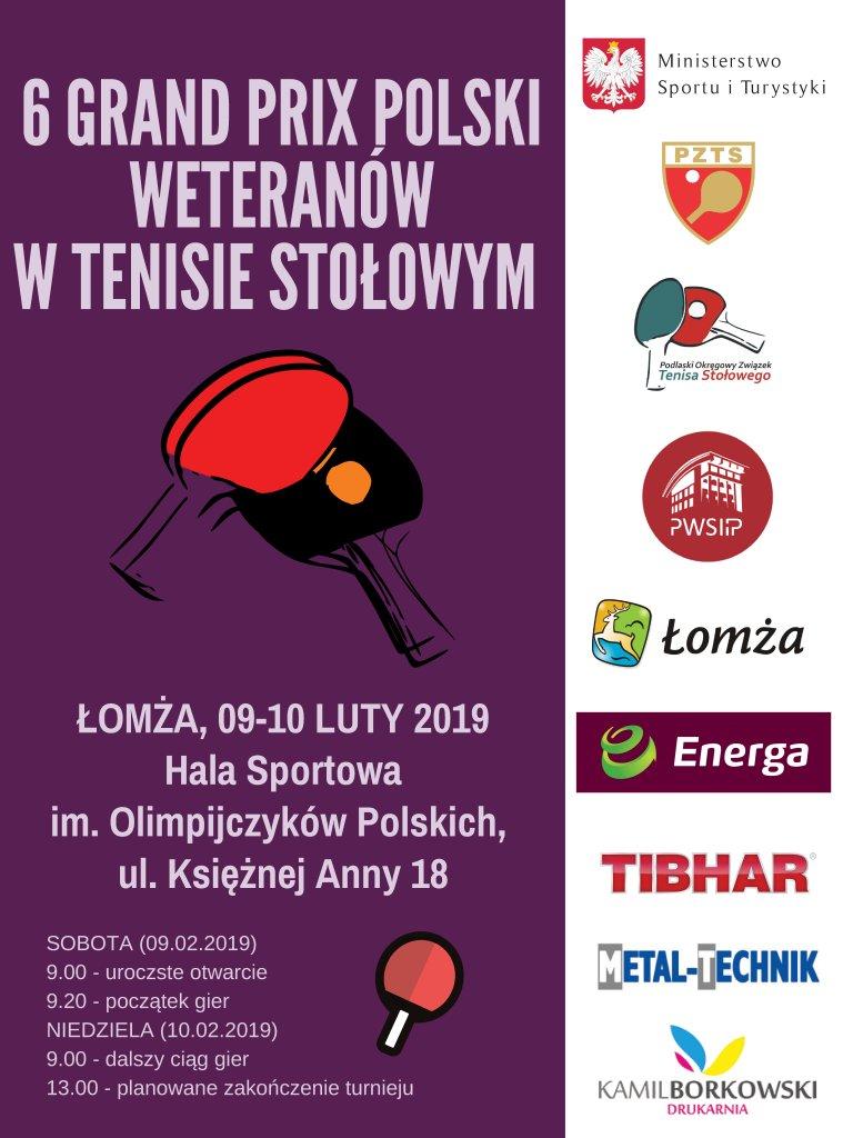 Plakat turnieju 6. Grand Prix Polski Weteranów