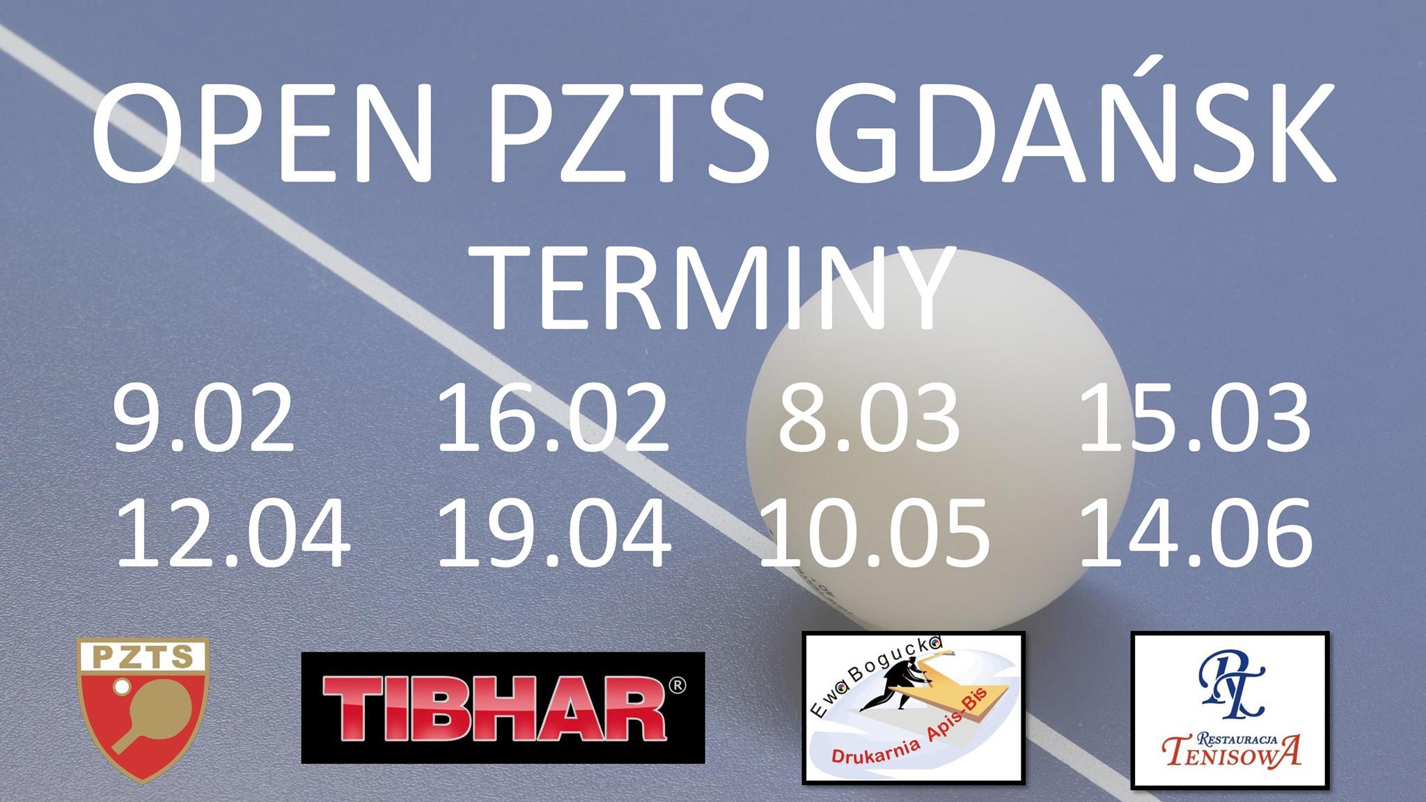 Plakat turnieju OPEN PZTS GDAŃSK - 9.02.2020