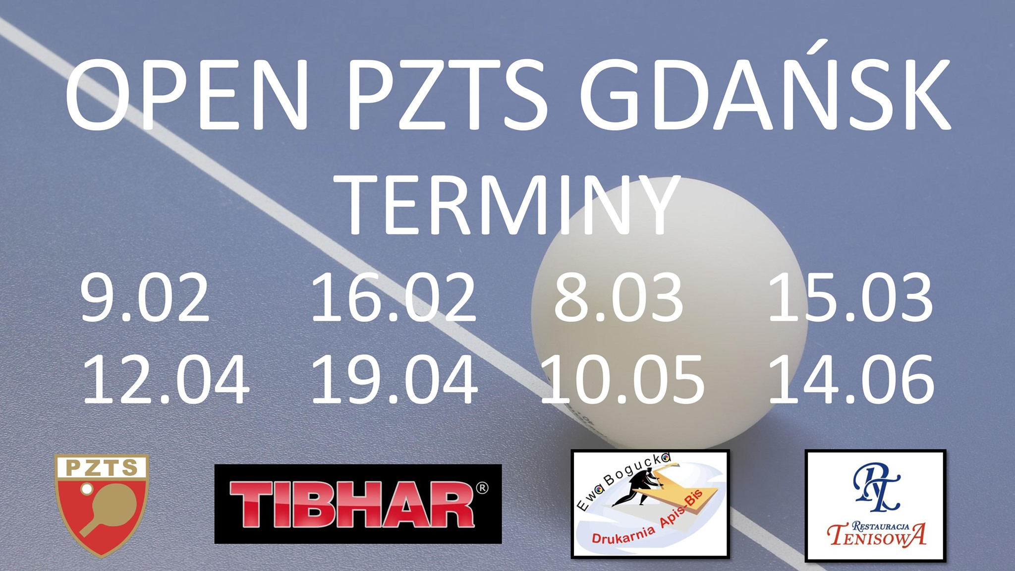 Plakat turnieju OPEN PZTS GDAŃSK -10.05.2020