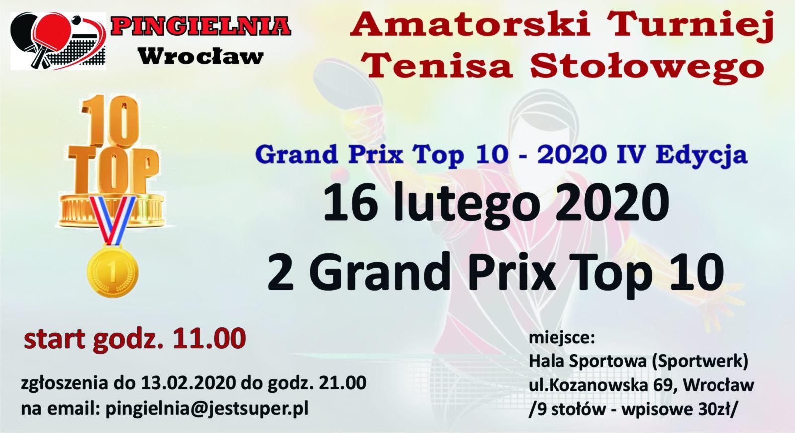 Plakat turnieju Amatorski Turniej Tenisa Stołowego (Pingielnia) - 2 turniej