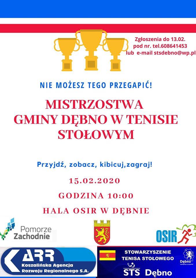 Plakat turnieju Mistrzostwa Gminy Dębno