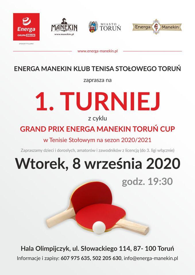 Plakat turnieju Grand Prix Energa Manekin Toruń Cup - 1 turniej cyklu