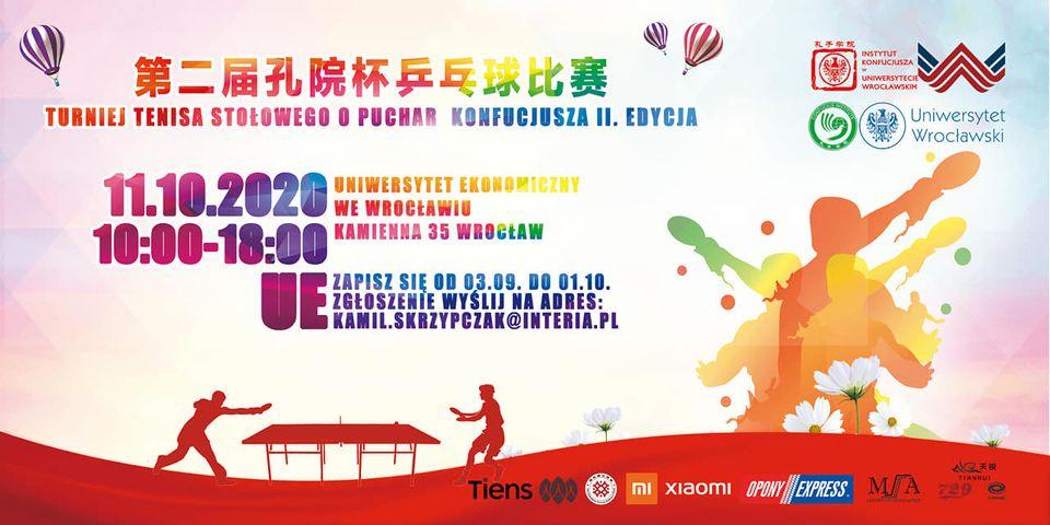 Plakat turnieju Turniej Tenisa Stołowego o Puchar Konfucjusza! - 2 edycja
