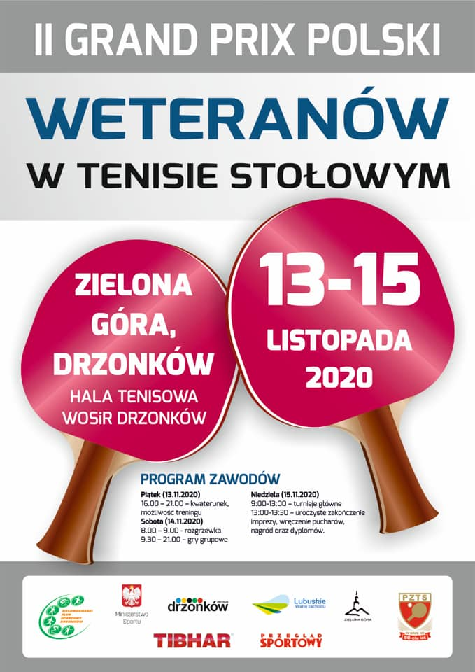 Plakat turnieju II Grand Prix Polski Weteranów